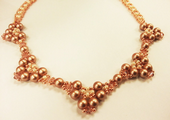 Pearl Elegance Beadwork Necklace Jewellery Making Kit with SWAROVSKI® ELEMENTS Rose Gold Tones